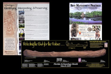 State of Florida and Florida Archaeology Month Graphics Poster, Brochures