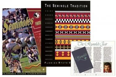 FSU Seminole Tradition, Football Posters and Burt Reynolds Brochure
