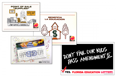 Florida Lottery Illustrations, Posters, Note Cards