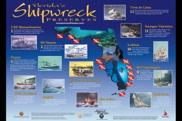 Shipwreck Poster for State Underwater Archeology
