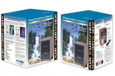 Lightning Air Air Purifier Box Package Design