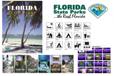 Florida State Parks Graphcis Brochure, Logo, Icons, Posters