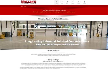 Allen's Concrete Polishing Industrial Website