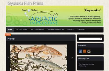 ecommerce website for Aquatic Impressions