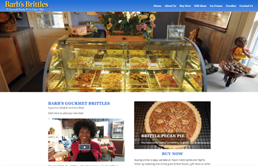 Barb's Brittles re-designed quality website design inexpensive