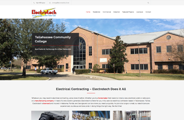 Electrotech Electrical Contractor Tallahassee Wordpress Website