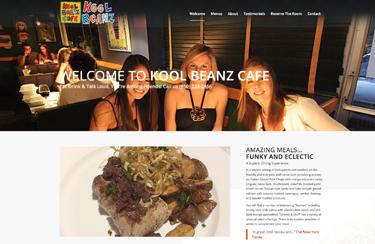 Kool Beanzf Cafe Wordpress website