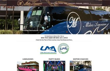 Mike's Limousine wordpress website design