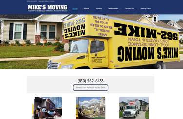 Mikes Moving and Storage website