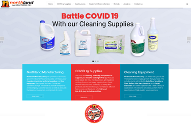Northland Manufacturing COVID 19 highlighted website