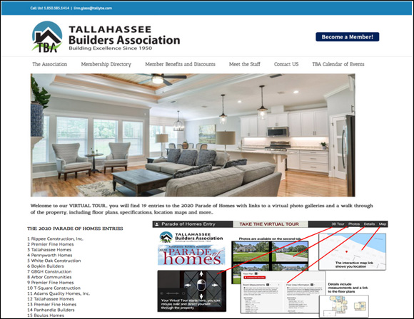 Tallahassee Builders Association – Virtual Parade of Homes