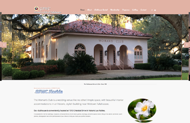Website design for womans club of tallahassee